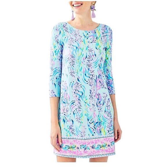 Lilly Pulitzer Dresses & Skirts - NWT Lilly Pulitzer Ophelia Blue Oasis Dress XXS